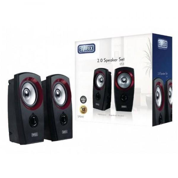 Sweex 2.0 Speaker Set USB SP041 Black/Red Kiegészítők