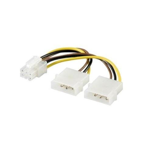 PC 4 pin-6 pin VGA átalakító (51360)